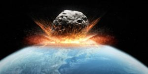 Asteroid impact, artwork